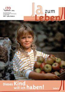 Titelbild Zeitschrift Ja zum Leben September 2004