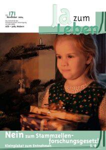 Titelbild Zeitschrift Ja zum Leben November 2004