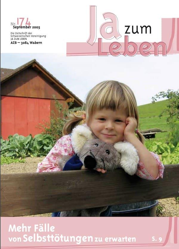 Rivista di foto di copertina Sî alla vita Settembre 2005