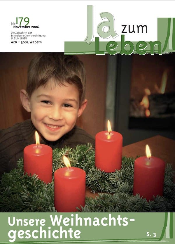 Titelbild Zeitschrift Ja zum Leben November 2006