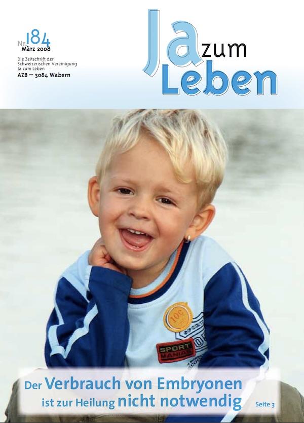 Titelbild Zeitschrift Ja zum Leben März 2008