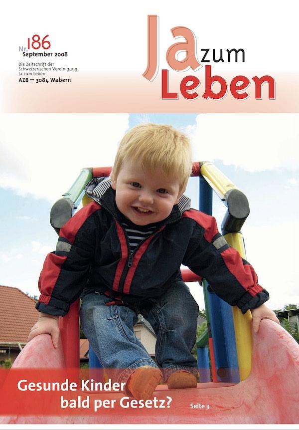 Titelbild Zeitschrift Ja zum Leben Nr 186
