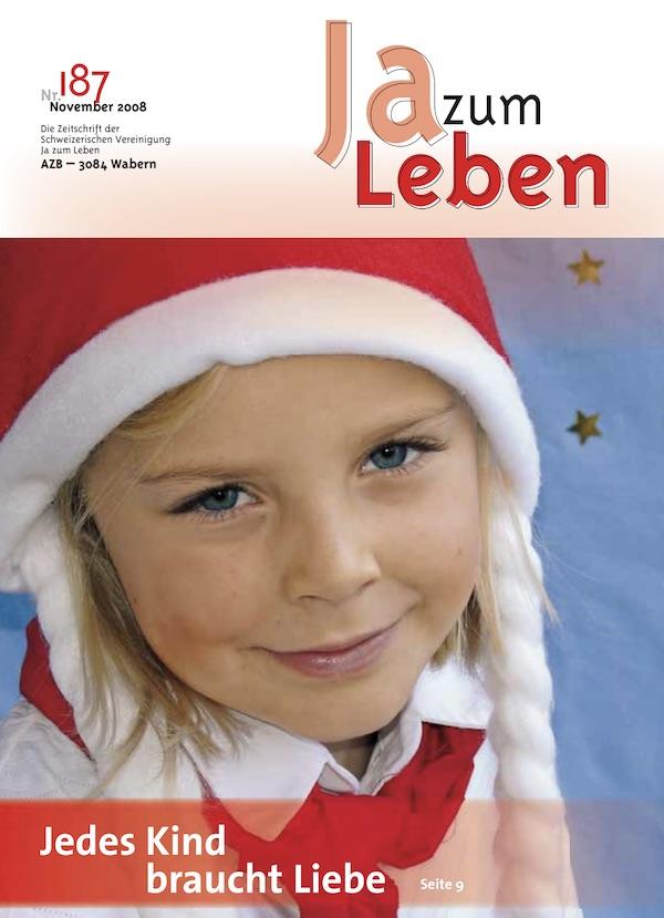 Titelbild Zeitschrift Ja zum Leben November 2008