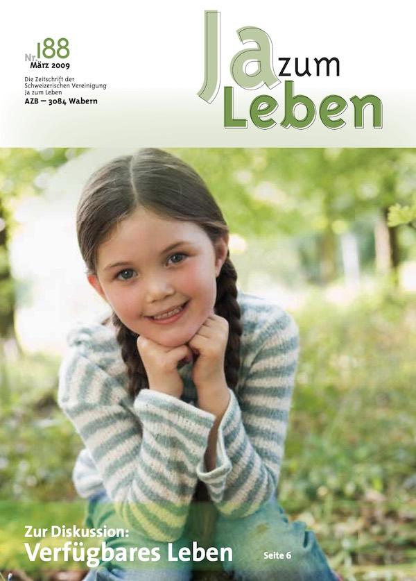 Titelbild Zeitschrift Ja zum Leben März 2009