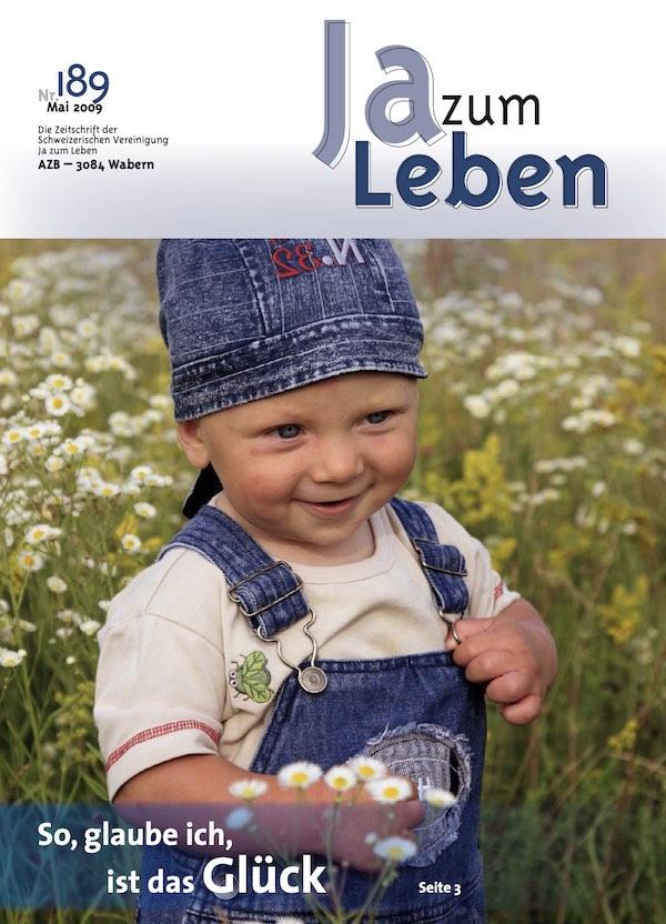 Titelbild Zeitschrift Ja zum Leben Mai 2009