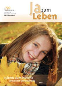 Titelbild Zeitschrift Ja zum Leben September 2009