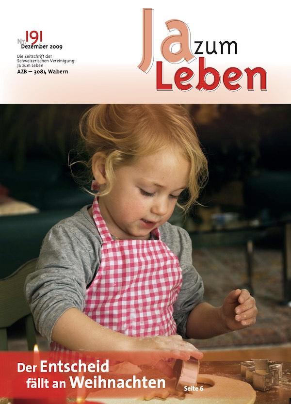 Titelbild Zeitschrift Ja zum Leben Dezember 2009