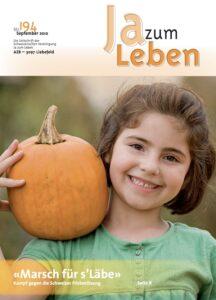 Titelbild Zeitschrift Ja zum Leben September 2010