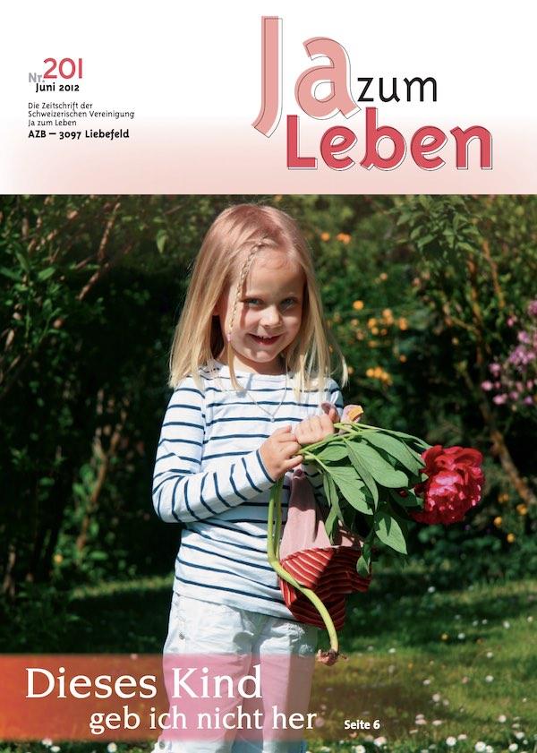 Titelbild Zeitschrift Ja zum Leben Juni 2012