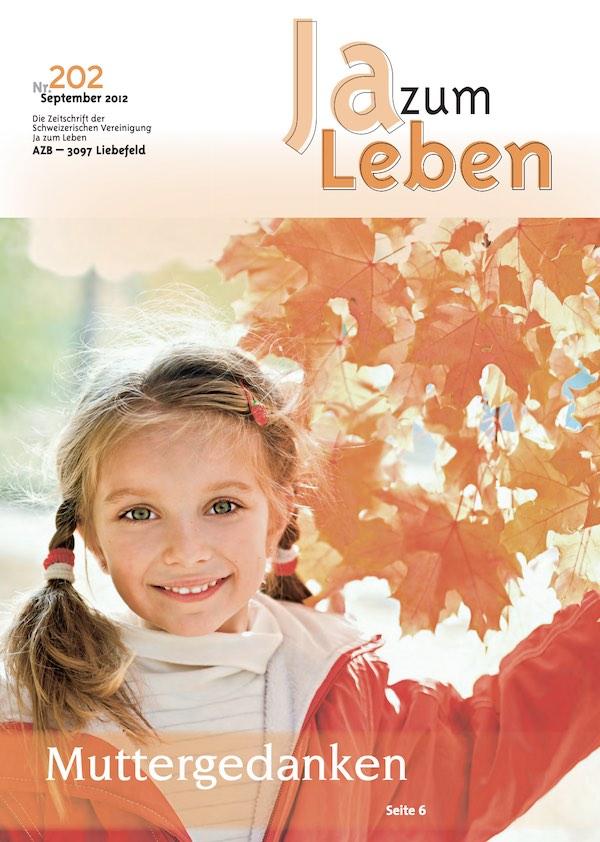 Titelbild Zeitschrift Ja zum Leben September 2012