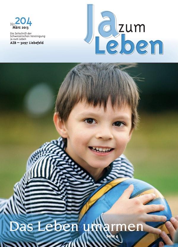 Titelbild Zeitschrift Ja zum Leben März 2013