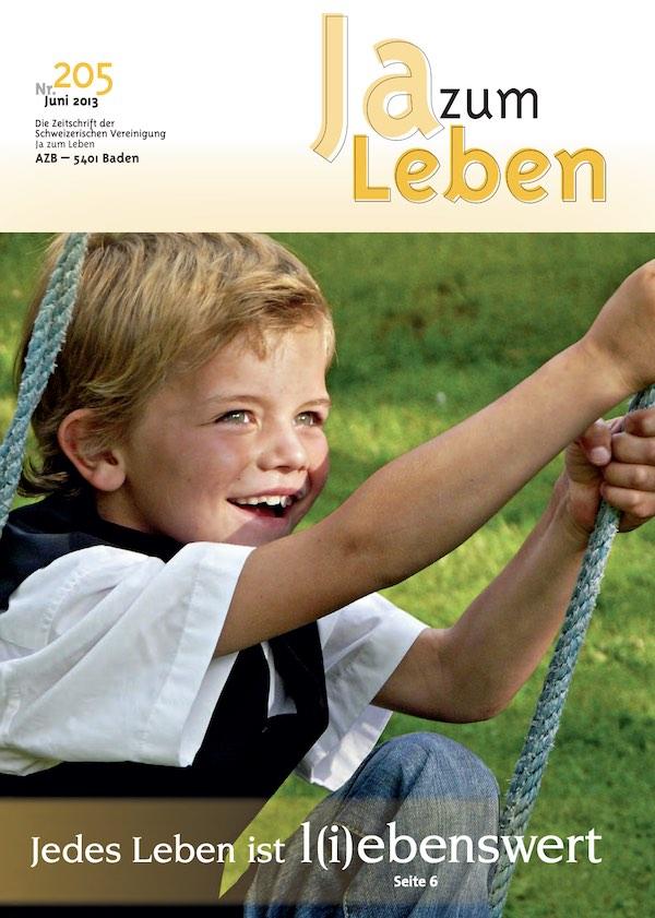 Titelbild Zeitschrift Ja zum Leben Juni 2013