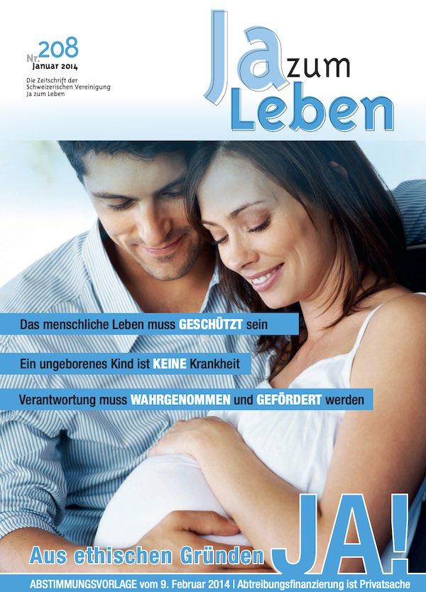 Titelbild Zeitschrift Ja zum Leben Januar 2014