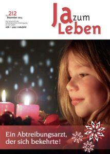 Titelbild Zeitschrift Ja zum Leben Dezember 2014