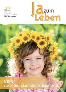 Titelbild Zeitschrift Ja zum Leben März 2015