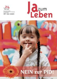 Titelbild Zeitschrift Ja zum Leben Juni 2015