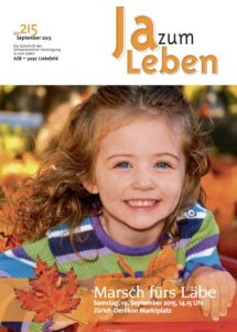 Titelbild Zeitschrift Ja zum Leben September 2015