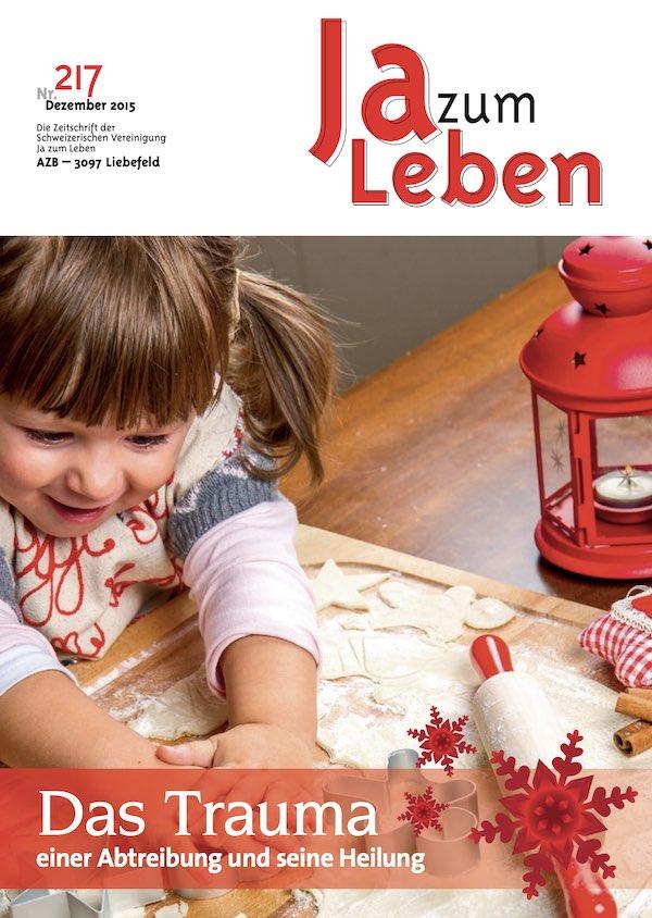 Titelbild Zeitschrift Ja zum Leben Dezember 2015