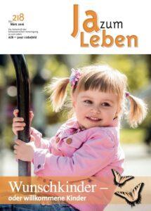 Titelbild Zeitschrift Ja zum Leben März 2016