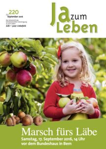 Titelbild Zeitschrift Ja zum Leben September 2016