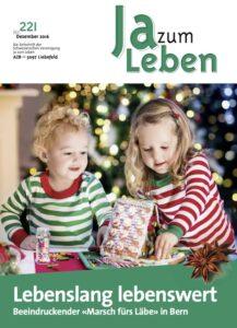 Titelbild Zeitschrift Ja zum Leben Dezember 2016