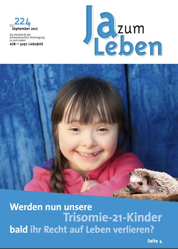Titelbild Zeitschrift Ja zum Leben September 2017