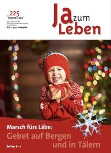 Titelbild Zeitschrift Ja zum Leben Dezember 2017