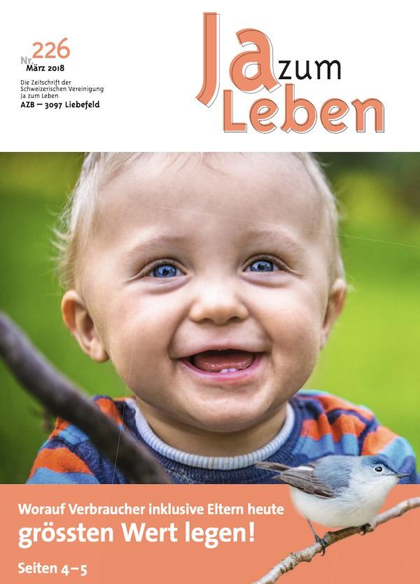 Titelbild Zeitschrift Ja zum Leben März 2018