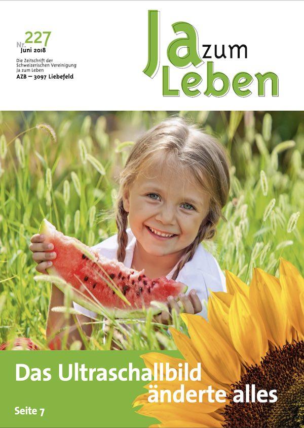 Titelbild Zeitschrift Ja zum Leben Juni 2018