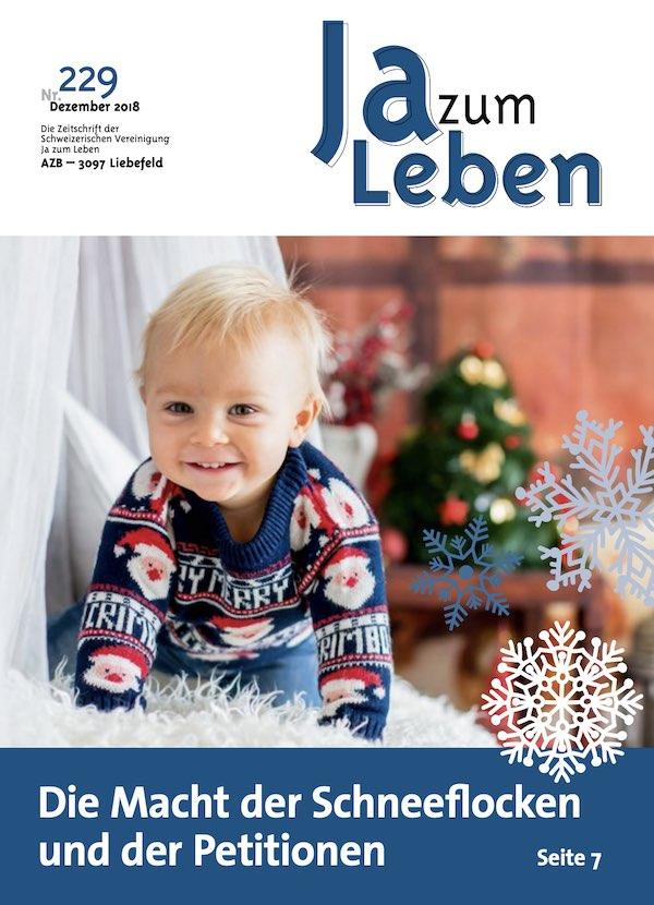 Titelbild Zeitschrift Ja zum Leben Dezember 2018