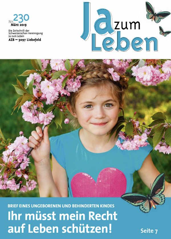 Titelbild Zeitschrift Ja zum Leben März 2019