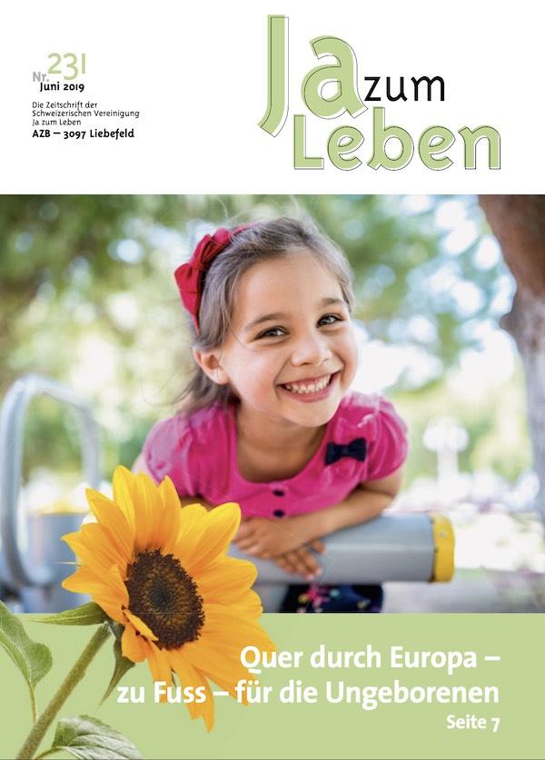 Titelbild Zeitschrift Ja zum Leben Juni 2019