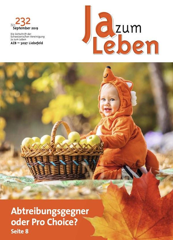 Titelbild Zeitschrift Ja zum Leben September 2019
