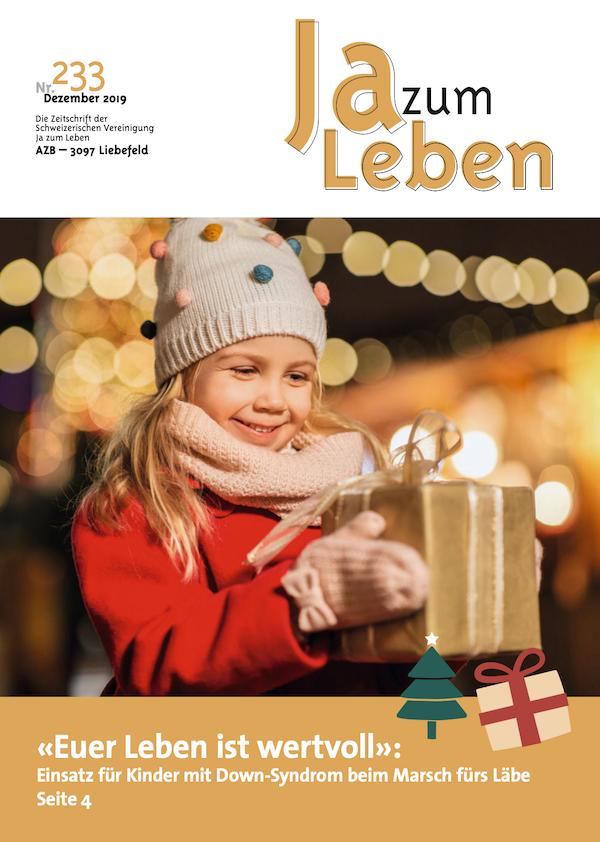 Titelbild Zeitschrift Ja zum Leben Dezember 2019