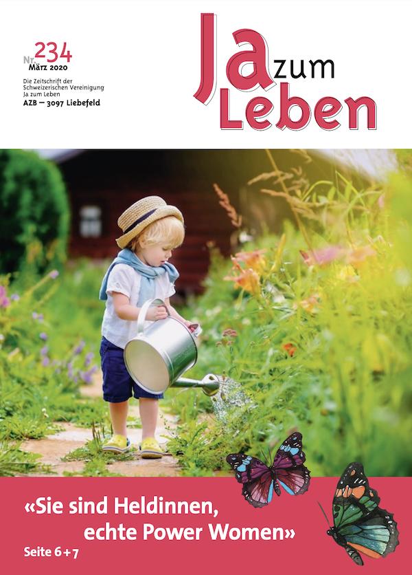 Titelbild Zeitschrift Ja zum Leben März 2020