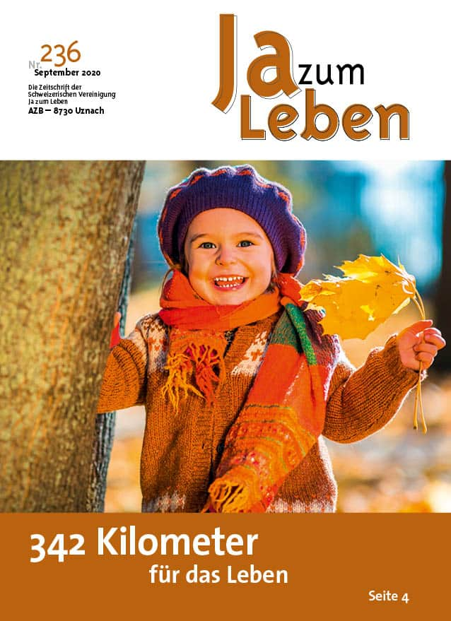 Titelbild Zeitschrift Ja zum Leben September 2020