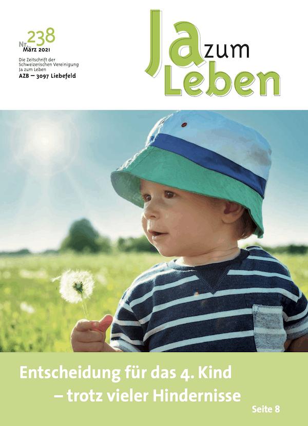 Titelbild Zeitschrift Ja zum Leben März 2021
